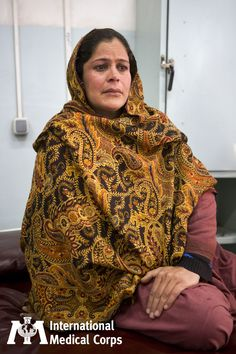 October 6: A woman awaits care at an International Medical Corps-supported women's hospital in Afghanistan.  Photo: Jonathan Saruk, International Medical Corps, Afghanistan 2009