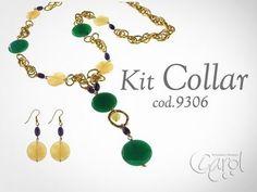 Kit 9306 Kit collar aventurina verde