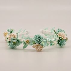 The Serenity Girls Flower Headband Designer Headbands, Hair Garland, Girls Jewelry, Paper Roses, Occasion Wear, How To Make Paper, Sweet Girls, Rose Buds, Flower Crown