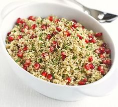 Herby couscous with citrus & pomegranate dressing