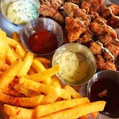 Lidcombe Hanabi kbbq  Fried chicken and chips w/ 4 different sauce