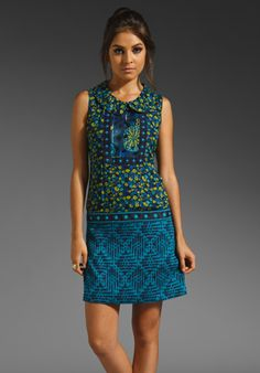 Fall 2012 Anna Sui Dash Jacquard Winter Blossom Tank Dress in Ultramarine Multi  Available At: http://www.revolveclothing.com/DisplayProduct.jsp?product=ASUI-WD103=Anna+Sui