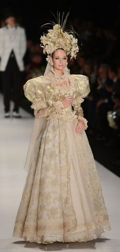 russian wedding dress by slava zaitsev a fashion designer from moscow