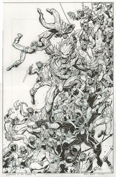 Guardians of the Galaxy # 8 by Arthur Adams - Original Art