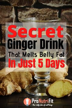 Secret drink to burn belly fat in 5 days - In this article, you will learn about a secret drink that melts belly fat in just 5 days time. Melt Belly Fat, Burn Belly Fat Fast, Belly Fat Loss, Ginger Drink Recipe, Foods That Cause Bloating, Bloating And Constipation, Belly Fat Drinks, Speed Up Metabolism, Quick Weight Loss Tips