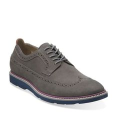Gambeson Dress Grey Nubuck - Clarks Mens Shoes - Lace-ups and Slip-ons - Clarks - Clarks® Shoes