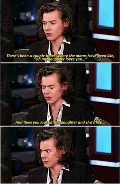 i remember watching this and its funny when you actually hear him say it. Harry Styles One Direction One Direction Memes, One Direction Louis, Harry Styles Mode, Harry Edward Styles, Harry Styles Interview, Harry Styles Facts, Funny Interview, Harry Styles Funny, Liam Payne