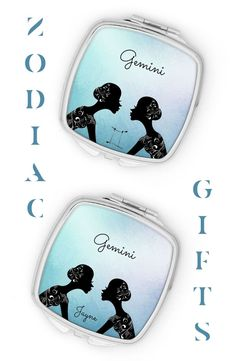 This beautiful pocket mirror is the ideal choice, if you're looking for something unique as a gift for a Gemini woman...