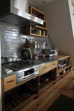 Leicht Kitchen Cabinets 2020 - Home Comforts Industrial Kitchen Design, Kitchen Interior, Family Kitchen, Kitchen Living, Bakery Kitchen, Japanese Kitchen, Open Concept Kitchen, Wooden Kitchen, Kitchen Cabinetry