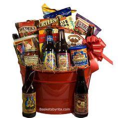 Beer Lovers Gift Basket   Beer And Snacks Gift Baskets   Colorado Microbrew Beer Gifts