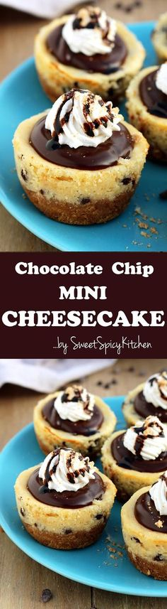 Chocolate Chip Mini Cheesecake