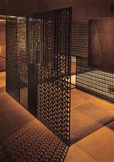 Metal mesh screen - by Takashi Sugimoto