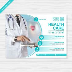 Healthcare and medical cover flyer design template for printing Premium Vector Pharmacy Design, Medical Design, Rollup Banner Design, Medical Brochure, Medical Posters, Graphic Design Brochure, Web Design, Postcard Template, Cover Template