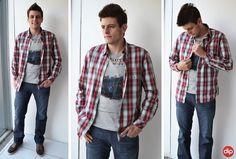 Para os dias mais quentinhos do outono, invista na clássica camisa xadrez! Todo homem tem que ter uma ;)