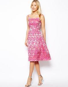 ASOS Tiffany Midi Dress In Floral Jacqaurd  $159