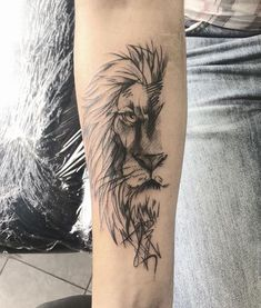 Lion Tattoo Meaning - Lion Tattoo Ideas for Men and Women with Photos - E . - Lion tattoo meaning – lion tattoo ideas for men and women with photos – a lion tattoo symbolize - Wolf Tattoos, Forearm Tattoos, Animal Tattoos, Sleeve Tattoos, Horse Tattoos, Finger Tattoos, Tatoos, Trendy Tattoos, Tattoos For Guys
