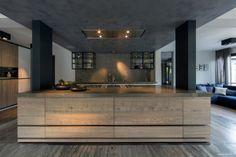 cuisine avec ilot moderne en bois