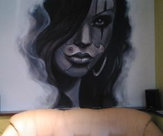 mural face grafitti