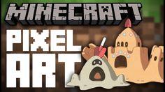 Sandygast & Palossand - Minecraft Pixel Art Speed Build