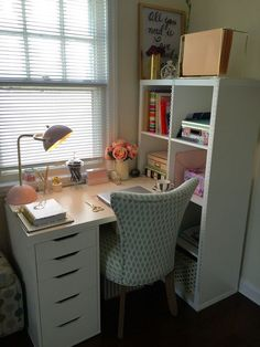 32 Ikea Home Office Design Ideas. If you begin a house business you will probably need a workplace. You'd want to make certain that your home office if you've got one looks fantastic, . Mesa Home Office, Home Office Space, Small Office, Apartment Office, Cozy Home Office, Office Hacks, Office Ideas, Desk Ideas, Office Decor