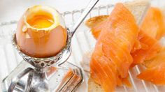 Eggs with smoked salmon fingers