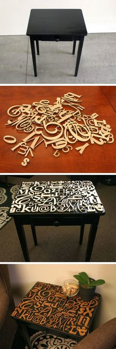 DIY Cool How much do I love this typography table?