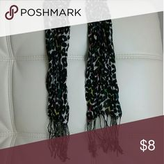 Scarf Black/white - Multi color leopard print Worn once, been gently washed GREAT CONDITION  Firm price - $8 FREE Shipping :)  Don't Forget to Bundle & Save!!!! Accessories Scarves & Wraps
