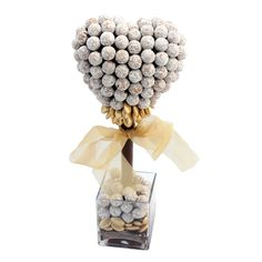 Sweet Trees Coconut Truffles & Dragee Tree, 42cm