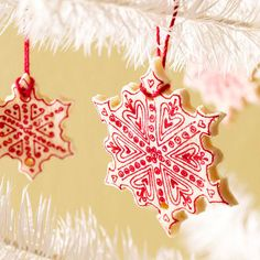 Salt dough cookie snowflake ornaments craft crafts christmas crafty merry christmas christmas pictures christmas ideas happy holidays merry xmas