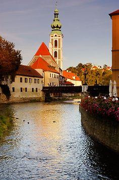 Czech Republic, Cesky Krumlov, Vlatava River