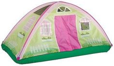 "Kids Fun Cottage Bed Tent Indoor Children Outdoor Activity Toddler Center. Bed tent size: 77"" X 38"" X 35"" Encourages Imagination at any time of the Day Great Product to Help Transition from their Toddler Bed into Twin Size Bed Bring the Fun of Outdoors Inside Exclusize Patented G-3 Poles are safe and easy to assemble Award Winner Build in Bed Skirt to cover your mattress use over your own fitted sheet Shipping Address -VERY IMPORTANTIf your shipping address is different than your Paypal…"