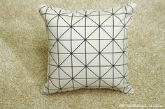 Pillow Pillow Cover Cushion Cover 16x16 20x20 Check by KoreaBacol
