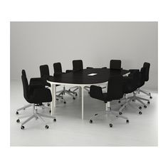 BEKANT Conference table - black-brown/white - IKEA