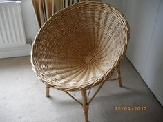 Wicker wonder - we're loving this #vintage wicker dish chair from the early 60s, currently for sale on #Preloved. (neighbors had this)