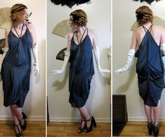 Need a last-minute costume? All you need is three square scarves and basic sewing skills and you can have yourself a lovely (and fairly historically accurate) 1920s style dress in an easy afternoon! Add some gloves, a long strand of pearls and a feather or two for your hair, and it's flapper time! This design was inspired by Madeleine Vionnet, a French fashion designer who introduced the concept of the bias cut (cutting fabric diagonally across the weave rather than straight horizontally or…