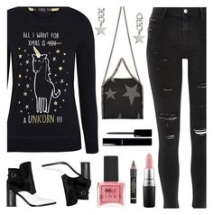 """""""All I Want For Xmas Is A Unicorn"""" by deborah-calton ❤ liked on Polyvore featuring River Island, STELLA McCARTNEY, Alexander Wang, Chanel, MAC Cosmetics, ncLA and L'Oréal Paris"""