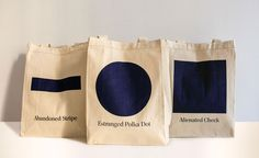Tote Bags by Of A Kind, designed by Mimi O Chun. And only $11! Perfection.