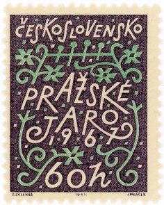 Czechoslovakia postage stamp: Prague Music Festival