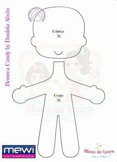 Felt doll with mold - See & Do Felt Doll Patterns, Felt Animal Patterns, Stuffed Animal Patterns, Bear Felt, Felt Quiet Books, Fabric Toys, Sewing Dolls, Lol Dolls, Felt Toys