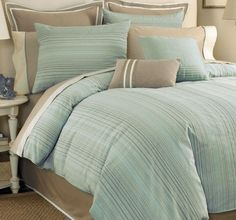 turquoise and grey bedding