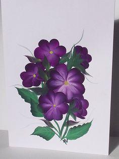 Easter Greeting Card Purple Flower