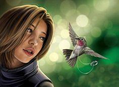 Bilder, Fantasy, Mädchen-, Ring-, Vogel-, 1600x1183 Hintergrundbilder, Fotos