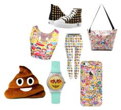 """EMOJI!! I think i maybe upssesd!"" by meganwatkins2005 on Polyvore featuring Casetify"
