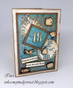 Mój mały świat: Męska kartka na 18 urodziny
