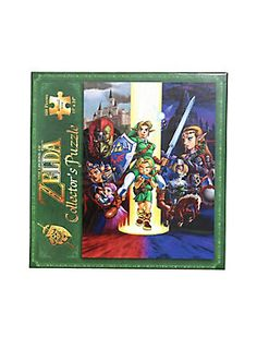 "Piece together the characters and scenes from <i>The Legend Of Zelda Ocarina Of Time 3D. </i><div><br></div><div>This is just one of the beautifully rendered 550-piece puzzles in <i>The Legend Of Zelda</i> Puzzle Collection from USAopoly.</div><div><br></div><div>Collect them all!</div><div><ul><li style=""LIST-STYLE-POSITION: outside !important; LIST-STYLE-TYPE: disc !important"">550-pieces</li><li style=""LIST-STYLE-POSITION: outside !important; LIST-STYLE-TYPE: disc !important"">Imported..."
