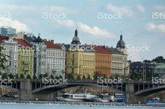 The Vltava river in Prague, Czech Republic royalty-free stock photo