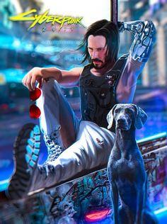 Keanu Reeves in Cyberpunk 2077 style Cyberpunk 2020, Arte Cyberpunk, Cyberpunk Tattoo, Cyberpunk Aesthetic, Cyberpunk Anime, Arte Sci Fi, Sci Fi Art, Dark Fantasy, Fantasy Art