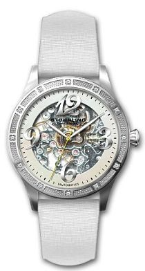 Women's 196SW3.121P3 Lifestyles Melody Automatic Skeleton Swarovski Crystal White Mother-Of-Pearl Dial Watch    by Stuhrling Original    $319.00