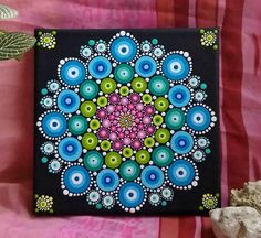 Mandala painting on canvas Water lily