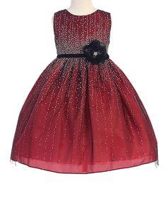 508b58d98f4 Crayon Kids Red Flower Sleeveless A-Line Dress - Infant